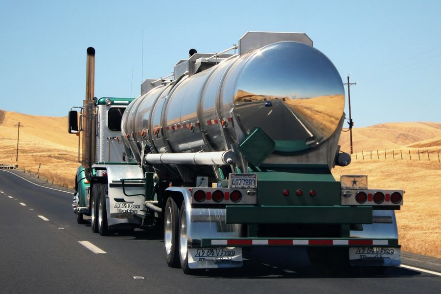 Tanker Trailer Truck in California